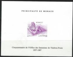 LZ-/-095-  N°1587 -  EPREUVE SOUVENIR De L'EXPOSITION PHILATELIQUE OBL. PAPILLON Du 15/11/87  , TTB, - Monaco