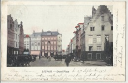 LOUVAIN - LEUVEN - Grand'Place 1903 (gekleurd) - Leuven