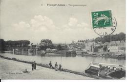 Cpa Vic Sur Aisne, Vue Panoramique, Péniches - Vic Sur Aisne