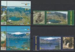 Argentine Roumanie 2010 Emission Commune Lacs De Montagne Argentina Romania Joint Issue Mountain Lakes - Emissions Communes