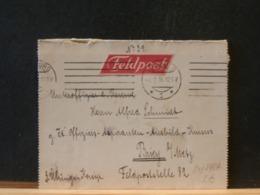 81/892A  LETTRE FELDPOST  TO BRIEY/METZ   1916  VERSO VIGNETTE - Briefe U. Dokumente
