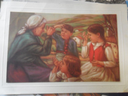 La Señal De La Cruz, Larry Illustrateur Postal Pegada Sobre Carton - Vizcaya (Bilbao)