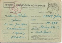 Précurseur Prisonnier De Guerre 1941 Franchise Postale Stalag XII C WIEBELSHEIM + Censure Kriegsgefangenenpost - Marcophilie (Lettres)
