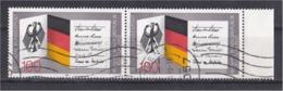 Deutsche Bundespost 1989 40 Jahre BundesRepublik Deutschland Germany Flag Bandeira Fändel Bandiera Drapeau - Briefmarken