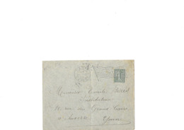 Le 130 Semeuse Lignée Sur Lettre De Paris Départ En Datdu 08.02.1906, Obl Mécanique Type Drapeau TB - 1903-60 Semeuse A Righe