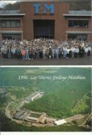 Marchin -- Les Tôleries Delloye - Matthieu   2 Cartes Centième Anniversaire 1896-1996 (2 Scans) - Marchin