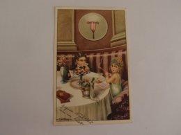 CPA Fantaisie Illustrateur Bertiglia Enfants Diner Au Champagne - Bertiglia, A.