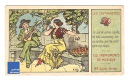 Chromo Instrument De MusiqueLes Castagnettes Danse Type Flamenco Musicien Robe A30-12 - Cromo