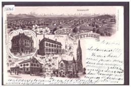 GRUSS AUS WETZIKON - BRAUN LITHO - B ( MINI PLI D'ANGLE ) - ZH Zurich