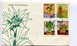 PLANTAS ALIMENTICIAS, ARARU, SORGO, LEREN, MANI / FOOD PLANTS - DOMINICANA 1987 FDC FIRST DAY OF ISSUE DIA EMISION LILHU - Dominikanische Rep.