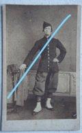 Photo ABL Soldat Belge Circa 1875 Uniforme Militaria Armée Belge Belgische Leger - Krieg, Militär