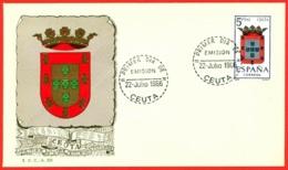 España. Spain. 1966. FDC. Ceuta. Escudos. Coat Of Arms - FDC