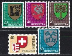 Yv 1072/75  Pro Juventute 1978 Armoiries + 1071 Ecusson Canton Du Jura ** - Neufs