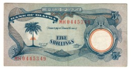 BIAFRA5SHILLINGS1968P3VFWith S/N 3A.CV. - Nigeria