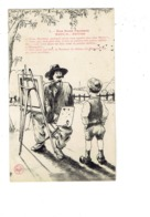 Cpa ILLUSTRATION HUMOUR  Nos Bons Paysans - Peintre Artiste Pinceau Palette Peintures GARÇON - MAITRE ET MAITRESSE - Humour