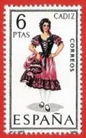 España. Spain. 1967. Cadiz. Trajes Regionales Regional Costumes - 1961-70 Nuevos & Fijasellos
