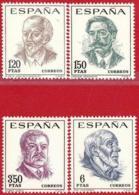España. Spain. 1967. Centenarios. J. De Bethencourt. E. Granados. R. Dario. San Ildefonso - 1931-Hoy: 2ª República - ... Juan Carlos I