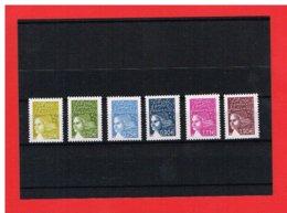 2003 - MARIANNE DE LUQUET - NEUFS** - N° 3570 à 3575 - COTE Y & T :18.00 Euros - 1997-04 Marianne Of July 14th