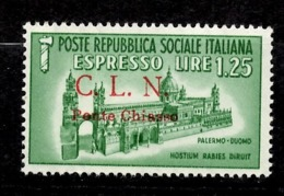 Italie/CLN/ Timbre Expres De Ponte Chiasso Neuf ** MNH. Rare! TB. A Saisir! - 4. 1944-45 Sozialrepublik