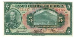 BOLIVIA5BOLIVIANOS20/07/1928P120UNC.CV. - Bolivia