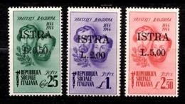 Italie/CLN/Istrie(ISTRA) Trois Timbres Neufs ** MNH. Rare! TB. A Saisir! - 4. 1944-45 Sozialrepublik