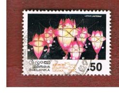 SRI LANKA (CEYLON) - SG 980  -     1987  VESAK FESTIVAL: LOTUS LANTERNS       -  USED - Sri Lanka (Ceylon) (1948-...)