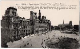CP 75 Paris Hôtel De Ville Panorama Vers Notre Dame 287 JH Boisson - Other Monuments