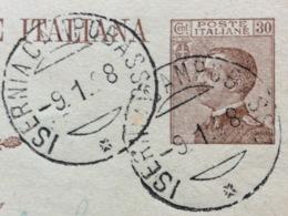 AMBULANTE ISERNIA - CAMPOBASSO * 9/1/28  SU CARTOLINA POSTALE  DA  IESI A VINCHIATURO - 1900-44 Vittorio Emanuele III