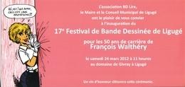 Carton D'invitation WALTHERY François Festival BD Ligugé 2012 - Tarjetas Postales