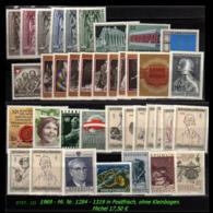 Österreich - Aus Mi. Nr: 1284 - 1319 -  Postfrischer Jahrgang 1969 - Ohne Kleinbogen - 1945-.... 2. Republik