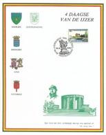 BELGIË/BELGIQUE :1983: Souvenir Card:##OOSTDUINKERKE – VIERDAAGSE Van De IJZER## : KOKSIJDE,DIKSMUIDE,IEPER,POPERINGE, - Souvenir Cards