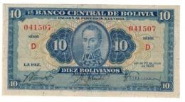 BOLIVIA10BOLIVIANOS20/07/1928P130VF.CV. - Bolivië
