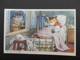 """Chats Habillés Illustrant Comptine """"Au Clair De La Lune"""" - Katten"""