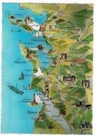 10.422 - Cotes De Saintonge - Contour Géographique Illustré - Pas Circulé - Landkaarten