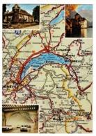 Lac De Genève Et Ses Environs (Carte Michelin N° 988) Multivues, Tunnel Mont Blanc (Peugeot 403, Dauphine, DS) - Landkaarten
