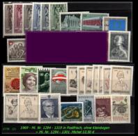 Österreich - Aus Mi. Nr. 1284 - 1319 -  Postfrischer Jahrgang 1969 - Ohne Kleinbogen+1294-01 - 1945-.... 2. Republik