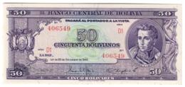 BOLIVIA50BOLIVIANOS20/12/1945P141UNC.CV. - Bolivië