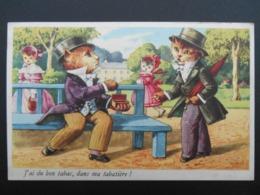 """Chats Habillés Illustrant Comptine """"J'ai Du Bon Tabac Dans Ma Tabatière !"""" - Katten"""