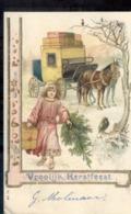 Paard En Wagen - Kerstfeest - 1915 - Tarjetas De Fantasía