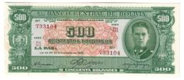 BOLIVIA500BOLIVIANOS20/12/1945P148UNC-.CV. - Bolivia