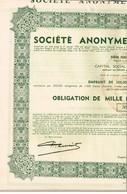 Obligation Ancienne - Sté Anonyme D'Ougrée-Marihaye - Titre De 1937 - N° 275570 - M - O