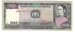 BOLIVIA1000PESOS BOLIVIANOS25/06/1982P167UNC.CV. - Bolivia