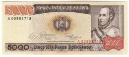 BOLIVIA5000PESOS BOLIVIANOS10/02/1984P168UNC.CV. - Bolivia