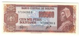 BOLIVIA100000PESOS BOLIVIANOS06/06/1984P171UNC.CV. - Bolivia