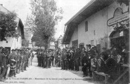 VILLAZ PARMELAN (Hte Savoie) Mouvement De La Rentrée Pour L'apéritif Au Restaurant Duret. Edit. Pittier. Cir. En 1907. - Autres Communes
