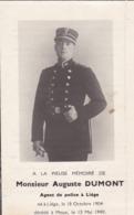 Souvenir A D Liège Fusillé à Meux 1940 Police - Documents