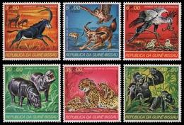 Guinea-Bissau 1978 - Mi-Nr. 471-476 A ** - MNH - Wildtiere / Wild Animals - Guinea-Bissau