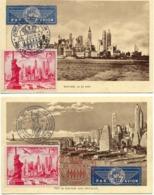 1406) 4 CM De Monaco Des P.A. N°26 Et 3 Du N°27. Vues Et Oblitérations Différentes - Maximumkarten (MC)