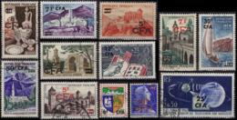 REUNION CFA Petit Lot (o) Cote 9,20 Euros Cilaos Comminges Aix Le Quesnoy Porcelaine Cahors Telstar St-Paul - Used Stamps