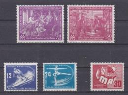 DDR Kleine Verzameling 1950 Nr 1/5 *, Zeer Mooi Lot Krt 4164 - Collezioni (senza Album)